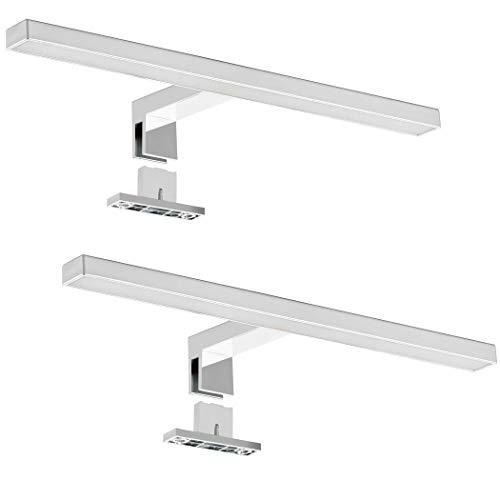 SEBSON® 2x Lampara Espejo Baño LED 30cm, Luz Espejo Pinza + Armario, 5W, 400lm Blanca Neutra 4000K, IP44-300x95x41mm