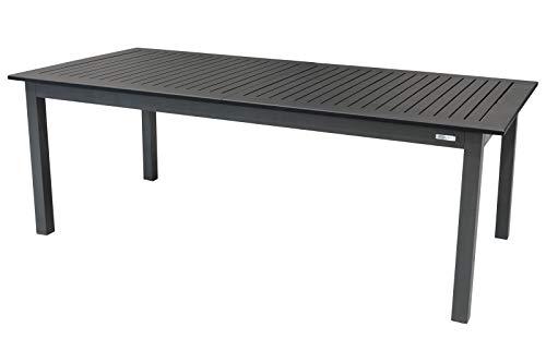 Doppler Expert Esstisch, anthrazit/schwarz Ausziehtisch aus Aluminium, 220-280x100 cm, ausziehbar, Terrassentisch Garten-Tisch