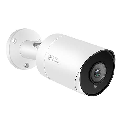 Cámara de Seguridad IP PoE Cámara Bala, cámara Gran Angular con Lente de 2.8 mm, detección de Movimiento, 98 pies, Ranura para Tarjeta SD, cámaras de vigilancia