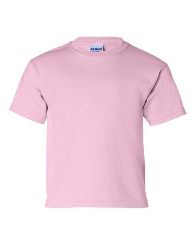 Gildan boys Ultra Cotton T-Shirt(G200B)-LIGHT PINK-M