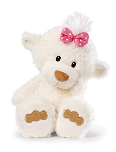 NICI 43345 Kuscheltier kleine Bären-Schwester, 30 cm, weiß