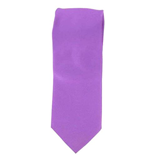 Cotton Park - Cravate 100% soie violette - Homme