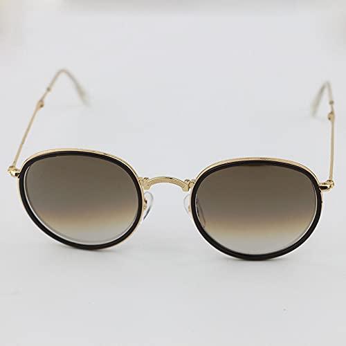 XINMAN Gafas De Sol De Color Personalizadas De Moda Gafas De Sol Polarizadas De Moda Gafas De Sol Plegables A Prueba De Viento Dorado/Café/Té Graduado