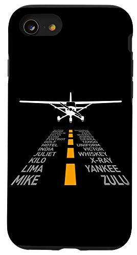 iPhone SE (2020) / 7 / 8 RC Plane Pilot Airport Runway Phonetic Alphabet Small Plane Case