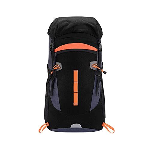 HOLPPO Spalle da Uomo E da Donna Borsa da Alpinismo 50L (Zaino da Esterno Impermeabile E Traspirante, Borsa da Viaggio per Escursionismo da Campeggio con Riflessione Notturna) (Colore : Black)