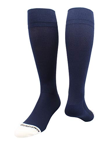 MadSportsStuff Pro Line Over the Calf Baseball Socks (Navy, Medium)