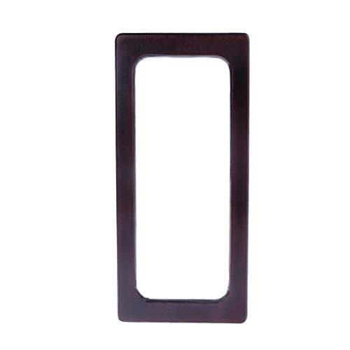 Eliky houten handgrepen rechthoekige handgrepen vervanging voor doe-het-zelf handtassen portemonnee boodschappentas