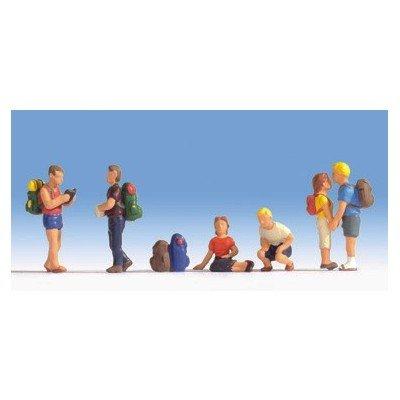 15873 - NOCH - Wanderer, 6 Figuren und Zubehör