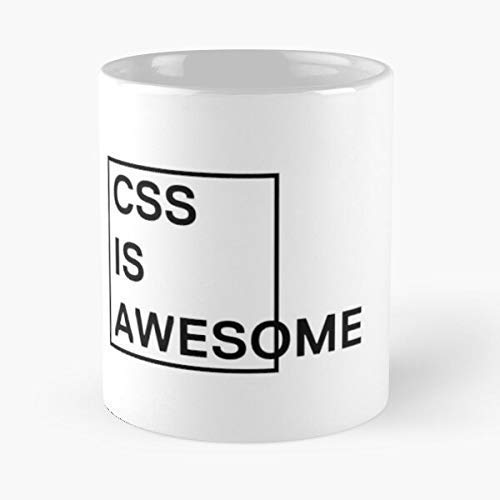 N\A Taza clásica CSS Is Awesome 1, 11 oz.