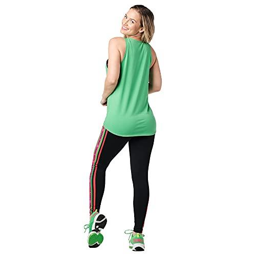 Zumba Dance Atlético Estampado Fitness Camiseta Mujer Sueltas de Entrenamiento Top Deportivo Tanktops, Green Smiles, XX-Large Womens