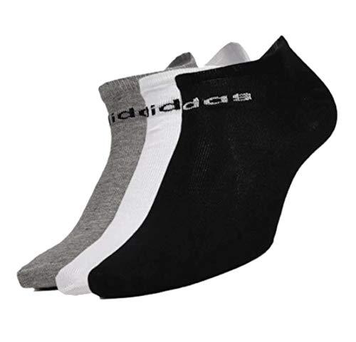 adidas Unisex's FJ7717 Ankle Length Socks, Black/Medium Grey Heather/White, M Regular