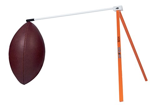 Kickoff! Football Holder - Football Place Holder Kicking Tee - Use with Foot Ball Field Goal Post or Football Kicking Net (Orange and White)