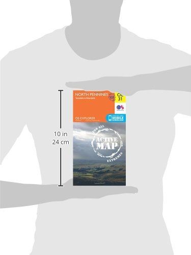 OS Explorer ACTIVE OL31 North Pennines - Teesdale & Weardale (OS Explorer Map Active)