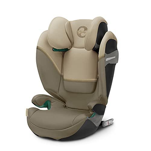 CYBEX Gold Silla de coche Solution S2 i-Fix, Para coches con y sin ISOFIX, 100 - 150 cm, De 3 a 12 años aprox. (15 - 50 kg), Beige (Classic Beige)