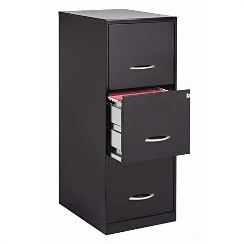 Cooper 3 Drawer Letter File Cabinet in Black