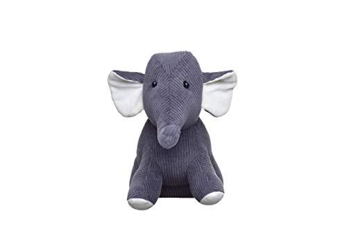 HEITMANN DECO Türstopper Elefant - Tier Fensterstopper aus Stoff - Deko Kinderzimmer - grau, weiß