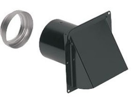 "Wall cap fits 3"" or 4"" round duct includes 3"" to 4"" round transition included for versatility"