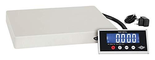 Wedo 507615010 Paket-Waage mit Zählfunktion 100 Plus inkl. Netzgerät, 100kg/ 10g
