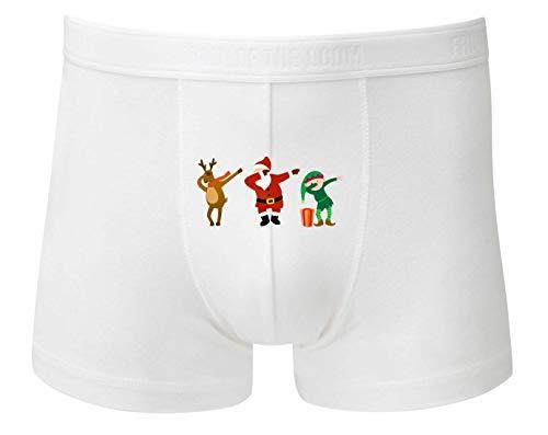 Boxershort - Weihnachtsmann Rentier Elfe Cartoon - Unterhose für Herren und Männer