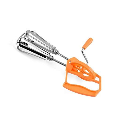 LWSHOP LYRStore886 Mezclador de Mano de Acero Inoxidable semiautomático Accesorios de Cocina de la cápsula automática Fácil de Usar (Color : Orange)