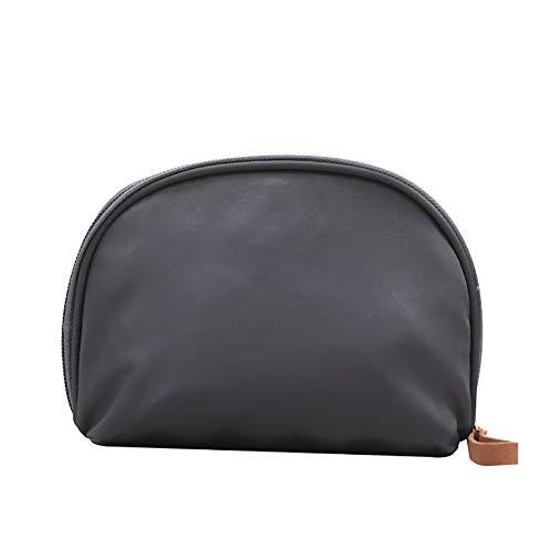 jingyuu Wasserdichte Make-up-Tasche, halbrund, Dusch-Kulturbeutel, Mehrfarbig grau 18cm*12cm*5cm