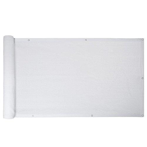 ESTEXO Balkon Sichtschutz/Balkonbespannung Balkonsichtschutz Balkonverkleidung 0,75 m x 6,00 m - Weiß