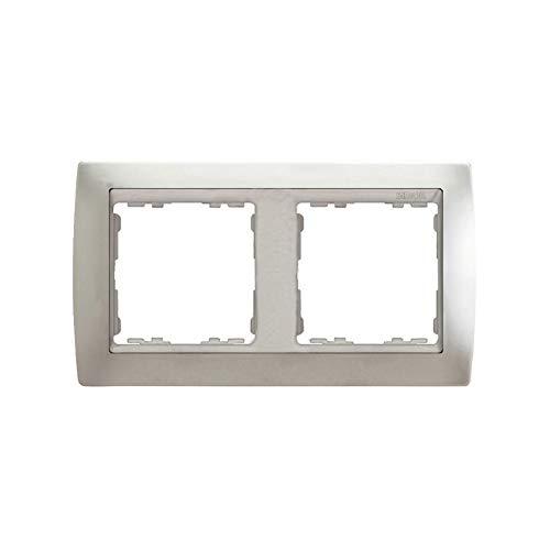 Simon - 82924-33 marco 2 elem s-82 metal noble aluminio mate Ref. 6558239160
