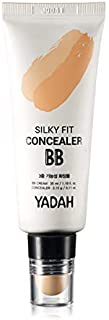 YADAH Silky Fit Concealer BB Power Brightening 1.18 Ounce 21 Light Beige, 2 in 1 Base Makeup Natural Ingredients Foundation Cream