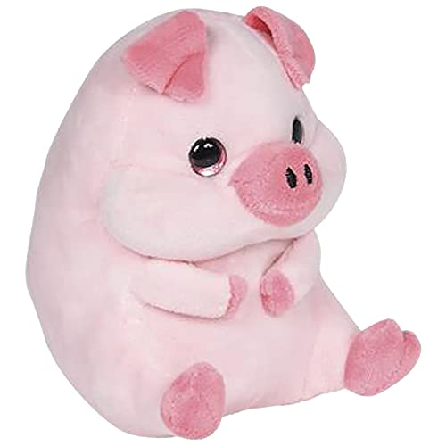 Cuddly Mals Plush Pig Toy by Happix  5 inch Stuffed Pig Animal with Super-Soft Fabric  Boy and Baby Girl Nursery Décor  Farm Birthday Decorations  Birthday for Kids Ages 3 and Up