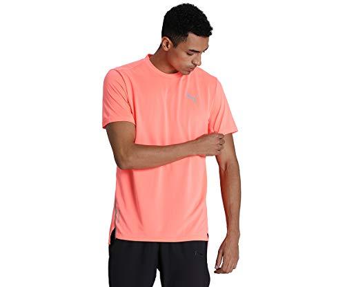 PUMA Run Laser Cat SS tee Camiseta, Hombre, nrgy Peach, L
