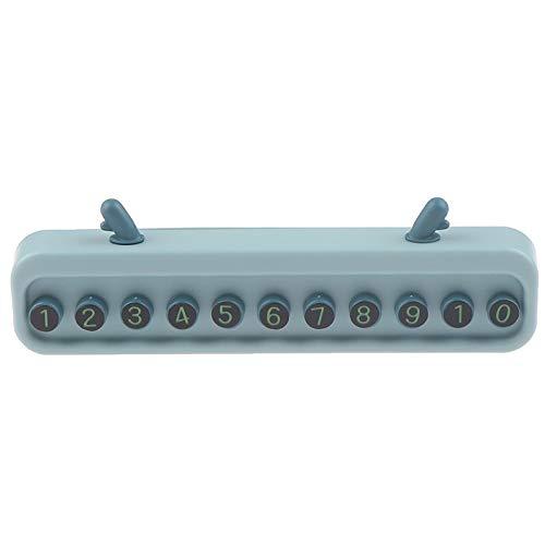 JINQIANSHANGMAO 1 Número de teléfono Oculto Etiqueta de la Placa de la Placa Moda Aparcamiento Signo Signo de Auto Suministros Coche Tarjeta de Estacionamiento Temporal (Sensor Color : Light Blue)