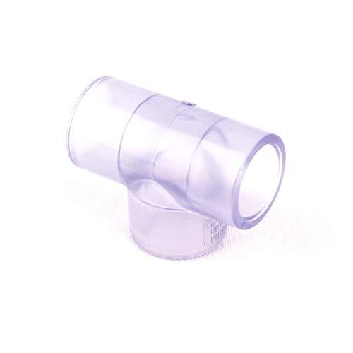 Inneres Dia. 20mm Transparent PVC-Rohrverbinder Standard-PVC-Wasserrohr Cap Kupplung Elbow T-Adapter für die Auswahl von Inner Dia.20mm Tee