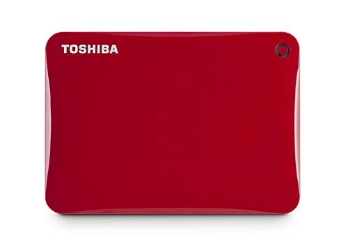 Toshiba Canvio Connect II - Dispositivo de almacenamiento portátil de 2 TB, color Rojo