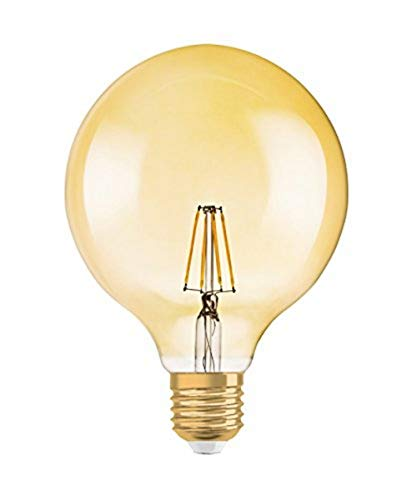 Osram LED Vintage Edition 1906 Lampe, in Ballform mit E27-Sockel, nicht dimmbar,6.5 Watt, Klar, Warmwei? - 2400 Kelvin, 1er-Pack