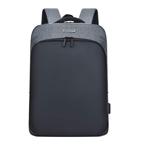 Rucksack, hohe Kapazität, Reise, kurz, Business, multifunktional, Diebstahlschutz, grau (Grau) - P-93