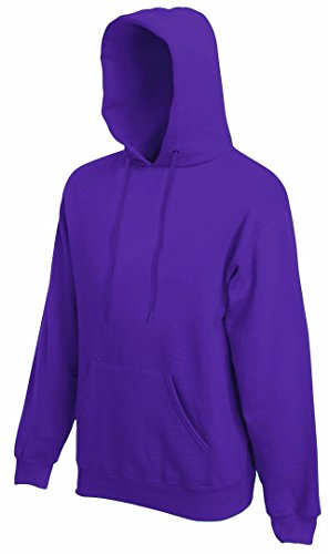 Herren Fruit Of The Loom Kapuzen-sweatjacket-Purple-Medium