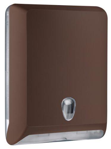 Mar Plast A83010EMA Dispenser Papier Handtücher, Braun 'soft-Touch'/durchsichtig, 400 x 130 x 290mm