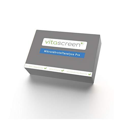 Vitascreen I Mikronährstoffanalyse Pro I zertifizierter Selbsttest für zuhause | Analyse auf 71 Mikronährstoffe: Vitamine, Aminosäure, Mineralstoffe, Spurenelement u.v.m. | detailliertes Ergebnis