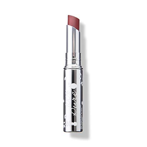 100% PURE Lip Glaze, Coquette, Tinted Lip Balm, With Cocoa Butter, Vitamin E, Lip Moisturizer, Natural Lip Balm (Dusty Rose Nude Color) - 0.088 oz (0.1 Ounce Pure Lipstick)