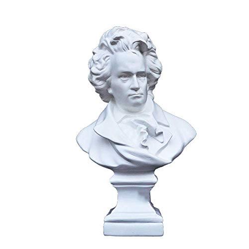 Mnjin Decoracin del hogar Beethoven Escultura Estatua, Beethoven Busto Busto Recuerdo Mundo Celebridad Modelo Escultura Decoracin Retro