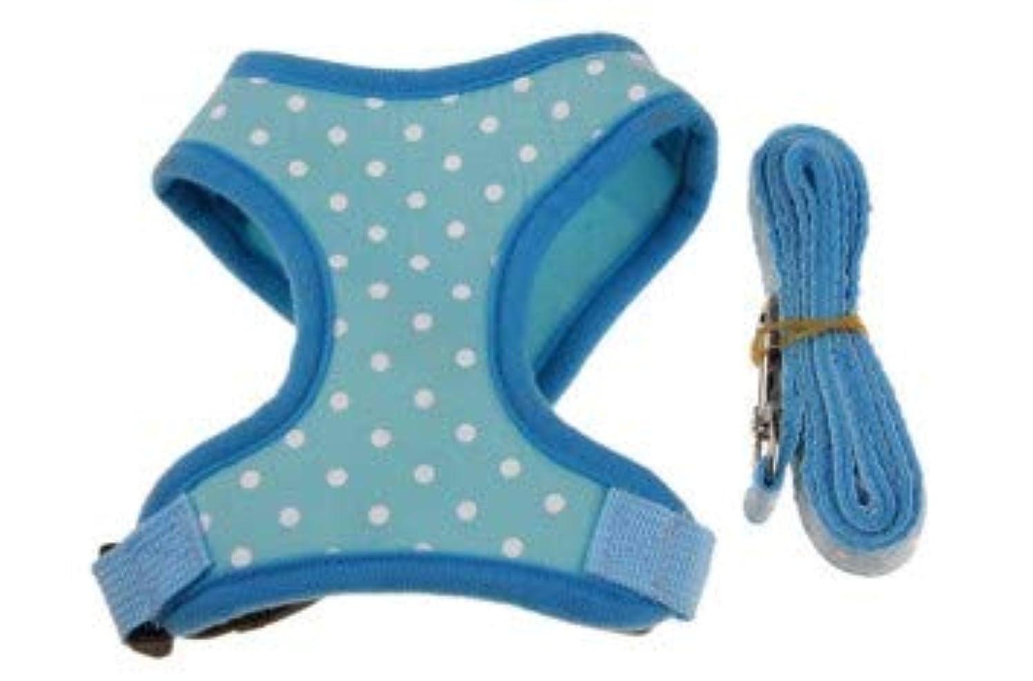 シャンプー盗賊エチケット犬ペット子犬犬リーシュチェストストラップI字型ベスト犬リーシュチェーン子犬小型犬 (Color : ブルー, Size : M)
