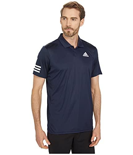 adidas Men's Club 3-Stripes Tennis Polo Shirt, Ink/White, Large