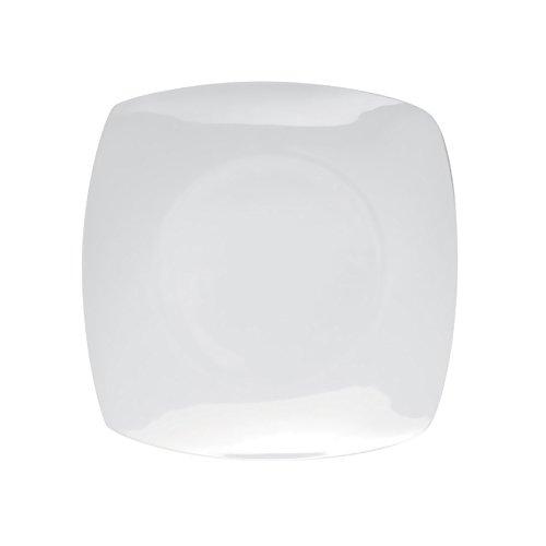 Excèlsa Piatto Piano in Porcellana, Quadro 20 X 20 cm, Bianco