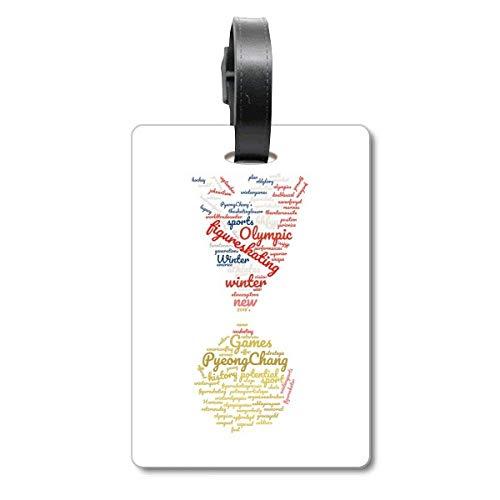 Medalla de los Juegos Olímpicos de Invierno Win Wordcloud maleta etiqueta para equipaje