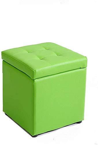Taburete de almacenamiento otomano Multifuncional, puede almacenar algunos artículos pequeños, la tela PU, se puede utilizar como un banco de sofá.Cambiar el banco de zapatos, la tela de almacenamient