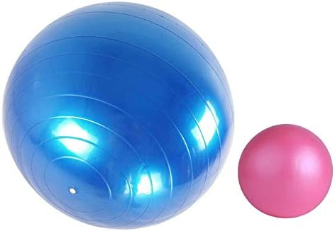 Exercise Ball 65cm 25cm Yoga Ball Chairs with Extra Pilates Exercise Ball Anti Burst Stability product image