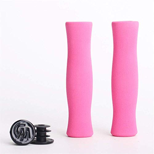 Bike Handlebar Grips Bike Handlebar Grips, Locking Bicycle Handlebar Grips Sponge Bike Grips For Bicycle Mountain LINGGE (Color : Pink, Size : Free size)