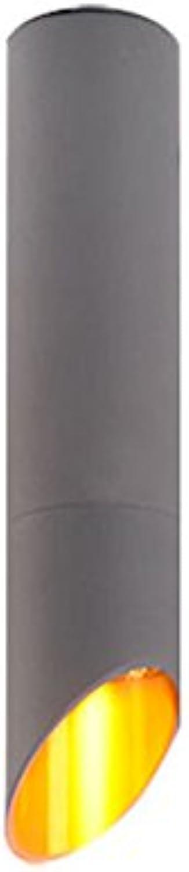 LED Zylindrische Aluminium Kronleuchter Kreative porenfreie Deckenleuchte Wohnzimmer Korridor Single Head Pendelleuchte (gre   32cm)