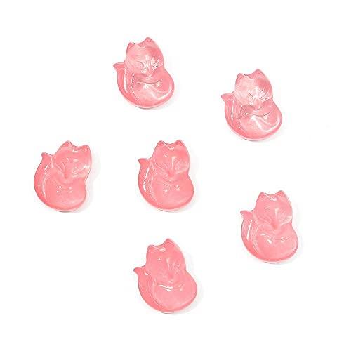 XKMY Cuentas hechas a mano para hacer joyas, 10 unidades, de moda, lindos cristales de pequeño zorro, colgantes para manualidades, pendientes, collares, accesorios para hacer joyas (color 04)