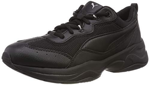 Puma Damen Cilia Sneaker, Schwarz (Puma Black-Puma Silver-Peach Bud), 42 EU
